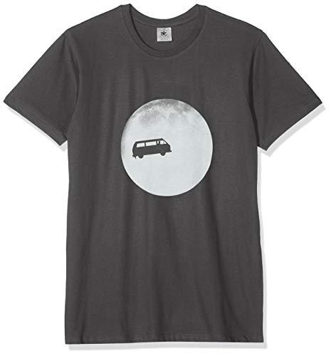 Texlab - Full Moon Bulli T3 - Herren T-Shirt, Größe L, grau