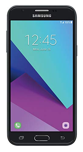 Samsung Galaxy J3 Prime J327A | (16GB, 1.5 RAM) | 5' Full HD Display | Dual Camera | 2,600 mAh Battery | Android 7.0 Nougat | 4G LTE | GSM Unlocked Smartphone - (Black)