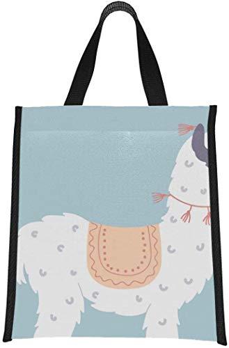 Cooler Bags - Lonchera de moda con aislamiento de llama linda de dibujos animados de bebé Lama para hombres, bolsa de almuerzo para mujeres, reutilizable, plegable, mantiene la comida calien