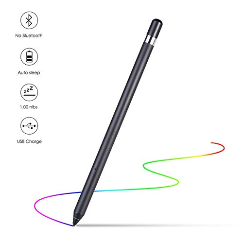 YUQQZ Stylus Pen Compatible para iPad Stylus Pen para Táctiles, Capacitive Stylus Touch Screen Pen Styli, Compatible con Apple iPad Pro/iPad 2018 / iPhone/Samsung iOS y Tableta Android