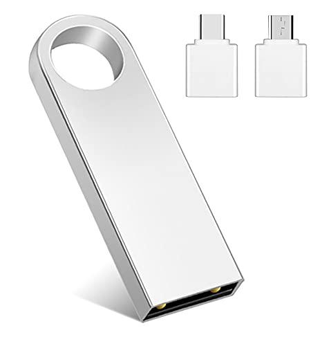 Chiavetta USB 1TB Pen Drive 1000GB Portatile Penna USB Memoria Flash Drive USB Key per PC, Laptop, Argento