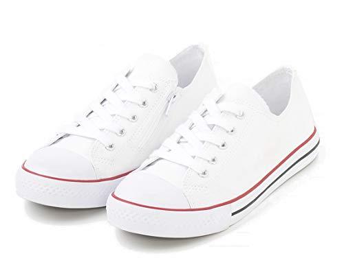 TEX - Zapatillas De Lona para Niña, Blanco Neutro, 39 EU
