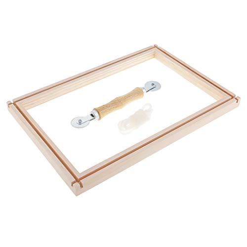 Bonarty - Aro de bordado de madera natural, 14 x 9 pulgadas, rectangular