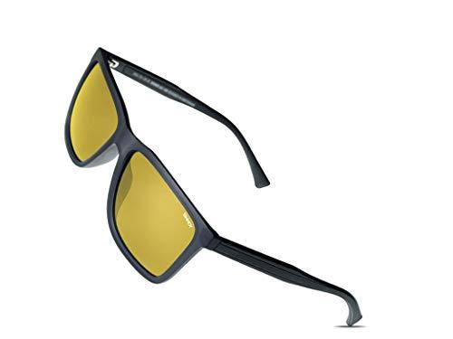 SINNER Gafas de visión nocturna con lentes amarillas polarizadas que simplifican la visión nocturna durante la conducción, antideslumbrantes y gafas de conducción nocturna.