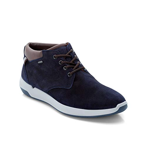 LLOYD Herren High-Top Sneaker Veale, Männer Sneaker,Sportschuh,Schnürschuh,Sneaker-Stiefel,mid Cut,Pacific/Havanna,44 EU / 9.5 UK