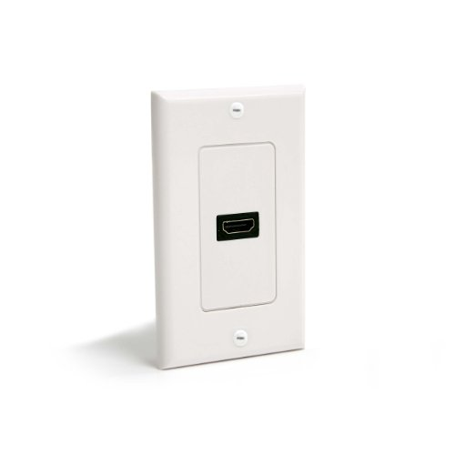 StarTech.com Single Outlet Female HDMI Wall Plate White - Wall mount plate - white - HDMIPLATE