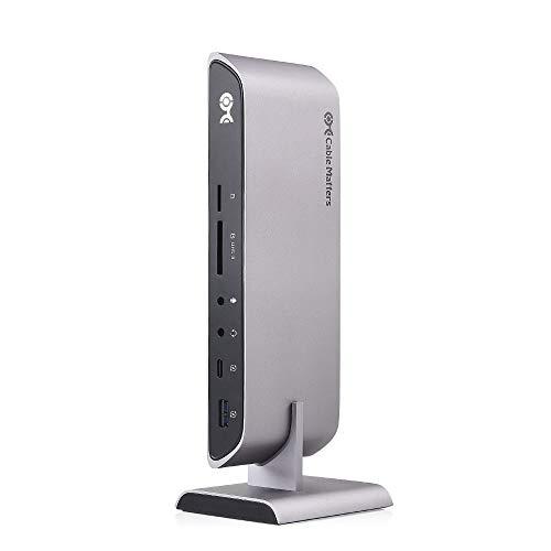 Cable Matters USB C ドッキングステーション USB C ハブ USB Type C ハブ デュアル4K HDMI 80W MacBook Pro用 ラップトップを充電 Thunderbolt 3対応