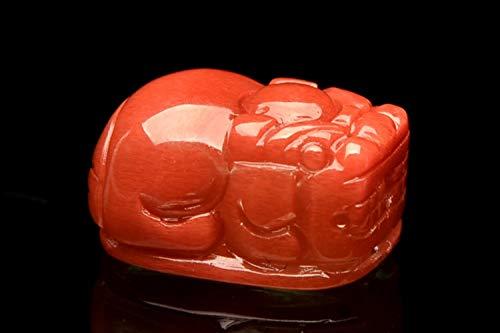 【 福縁閣 】【1点物】 AAA貔貅彫刻 アンデシン 11x14mm ペンダントトップ_PG3853 天然石 パワーストーン ビーズ