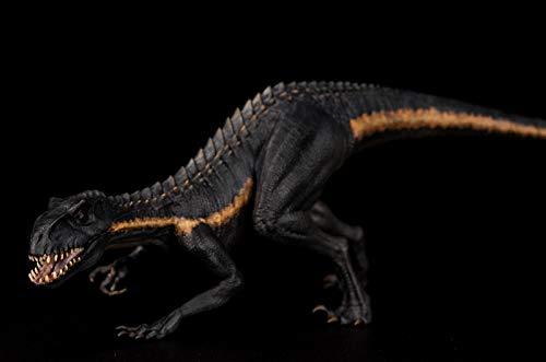 WJS 01.35 Berserker Raptor Dinosaurier Indoraptor Figur bewegliche Backe Schwarze Farbe Version