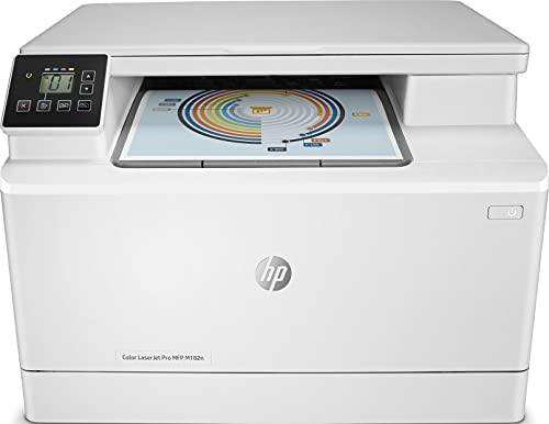HP Color LaserJet Pro MFP M182n 7KW54A, Impresora Láser Color Multifunción, Imprime, Escanea y Copia, Ethernet, USB 2.0 de alta velocidad, HP Smart App, Apple AirPrint, Panel de Control LCD, Blanca