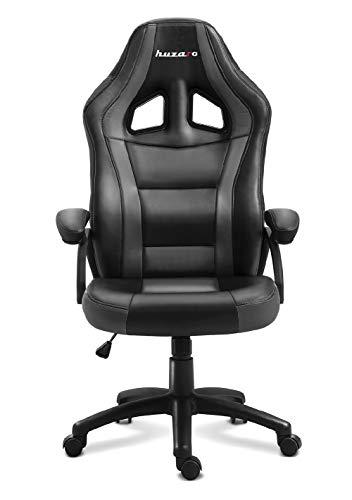 huzaro Grey Force 4.2 Gaming Stuhl Bürostuhl Schreibtischstuhl Verstellbare Armlehnen Ergonomisches Design Nackenkissen Lendenkissen Grau, Standard