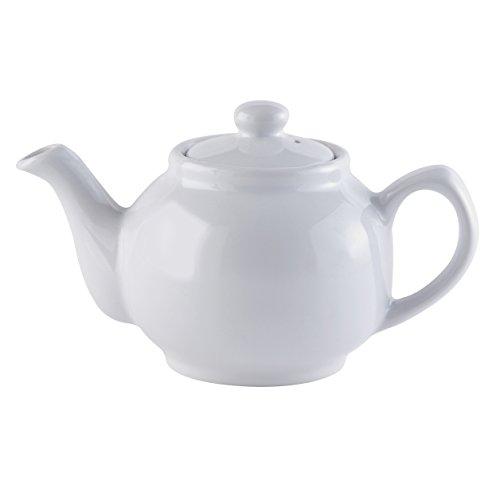 Price & Kensington Teekanne klassisch, weiß, 2 Tassen Tetera, gres, Blanco, 2 Tazas