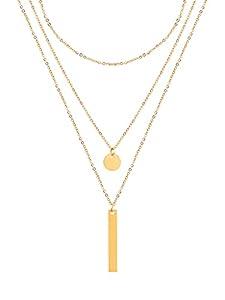 a little something® Halskette Venice   Damen Layer Kette mit 18 Karat Vergoldung (Gold & Roségold)   Inklusive nachhaltiger Geschenkverpackung mit FSC®-Zertifikat