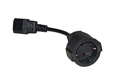Link lkadsk Power Adapter Kabel Duits Schuko-stopcontact bus - IEC C14-stekker, 15 cm