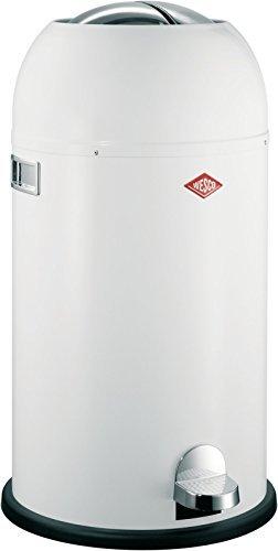 WESCO Kickmaster Abfalleimer, 33 Liter, weiß