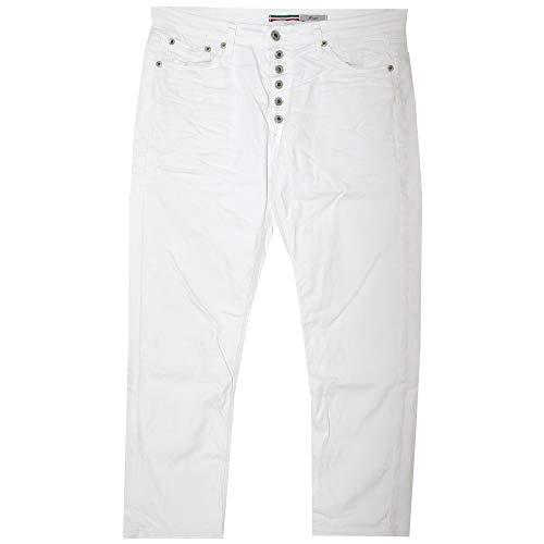 Please, P36H, Damen 3/4 Damen Jeans Hose Stretchdenim Reinweiss Large [20997]