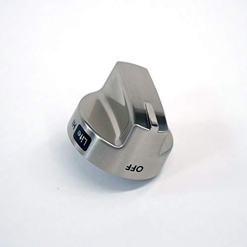 316567056 Range Surface Burner Knob Genuine Original Equipment Manufacturer (OEM) Part Stainless
