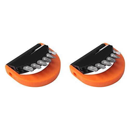 TEHAUX 2 Juegos Juego de Brocas de Destornillador con Carcasa Resistente Accesorios de Destornillador Herramienta de Desmontaje