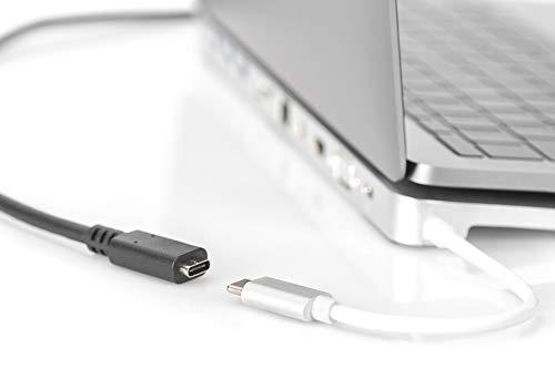 DIGITUS USB Typ-C Verlängerung Kabel - 0,7-m - USB 3.1 Gen2 10GBit/s - 20V / 5A - 100W - Ultra-HD 30Hz - CE Konform