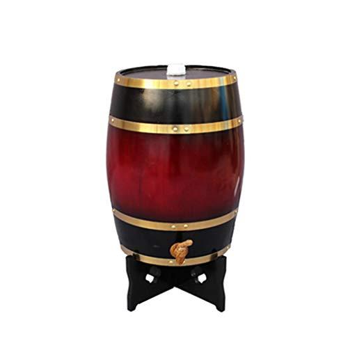 Toneles de Vino Barril de Roble Barril de Madera Barril de Roble 25L, Dispensador de Vino de Barril de Madera para Almacenar Bebidas Espirituosas de Tequila de Whisky (Color : Deep red, Size : 25L)