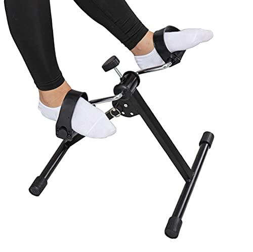 JSQC Bicicleta de Pedal de Pedal Plegable de Ancianos con Resistencia Ajustable, Brazo De Mano Pierna y Rodajera Peddler Médico para Seniors, Equipo De Rehabilitación De Trayos