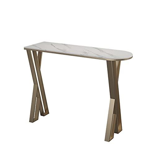 Conjunto de mesa bistró Balcón contra la pared pequeña barra de mesa cocina mesa de comedor altas bares bares bares comedor (Size : 100 * 40 * 105cm)