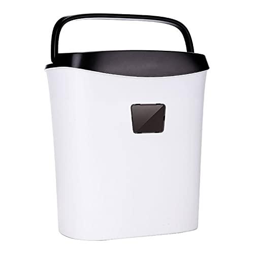SFLRW Trituradora de papel de trabajo pesado cortada de 6 hojas, tiempo de funcionamiento continuo de 30 minutos, Tarjeta de crédito / trituradoras de grapas para oficina, máquina trituradora tranquil