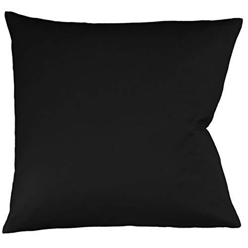 fleuresse Interlock-Jersey-Kissenbezug Uni Colours schwarz 941 Größe 40x60 cm