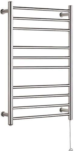 GPWDSN badkamerradiator radiator badkamerverwarming warmer, roestvrij staal handdoekwarmer schakelaar, waterlek lekkage preventie, squaretube