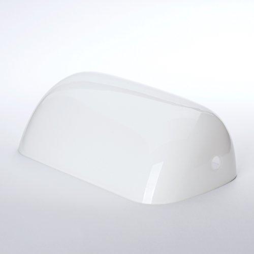 ERSATZGLAS weiß BANKERSLAMPE Bankers Lamp Leuchte Ersatzschirm Tisch Glasschirm Glas Schirm