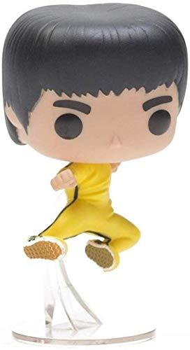 LJXGZY Radiancy Inc Anime Skulptur Anime Modelo Figura Bruce Lee Kung Fu Ropa Amarilla Coleccion Decoracion Modelo Regalo de cumpleanos Statue10CM