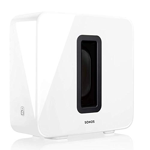 Sonos SUB Caisson de basse sans fil et subwoofer actif pour home cinema - Fonctionne avec le système audio multiroom Sonos - Blanc