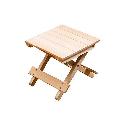 Folding Chairs Tabouret Pliant en Bois Massif Chaise de pêche Domestique à Langer Tabouret à Chaussures extérieur Petit Banc Peu encombrant Gratuit à Installer, Pliable et Puissant