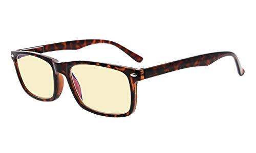 Eyekepper Readers UV-bescherming, anti-schittering bril, Anti blauwe stralen, lente scharnieren Computer leesbril without strength Tortoiseshell-bb60 Lens
