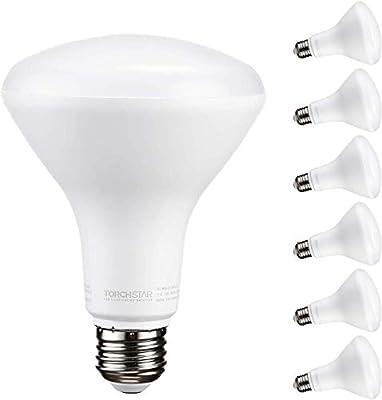 TORCHSTAR Dimmable LED BR30 Flood Light Bulb, 5000K Daylight/3000K Warm White/2700K Soft White, 800 Lumens, Pack of 6/24/1/4/12