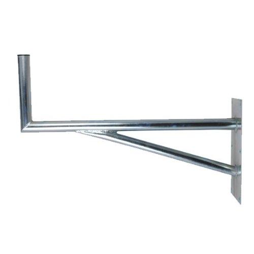 PremiumX 60cm SAT Halterung mit Stütelement Stahl Auslegerlänge 600mm Auslegerhöhe 300mm Grundplatte 400x200mm Wand Montage Halter Wandhalter