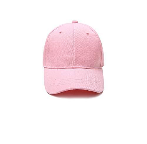 Gorra de béisbol Gorra Casuales Sombreros sólidos Color Puro Gorra Negra Snapback Gorras para Hombres Mujeres-pink-3-6-10 Hat