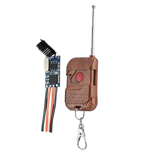 FLAMEER Commutateur Récepteur Relais Micro + Télécommande - Panneau 1 Noyer