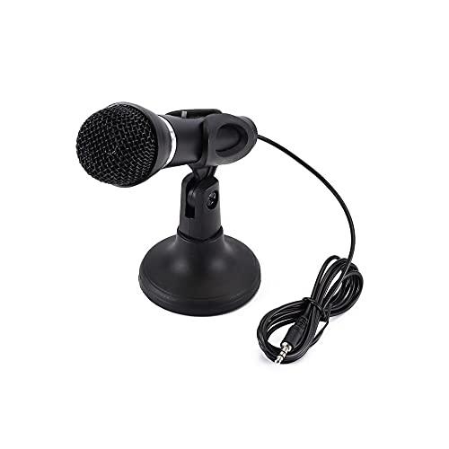 Micrófono Computadora Condensador Estudio Mic 3.5mm socket & Play para computadora portátil de escritorio para chatear en línea Grabación de juegos