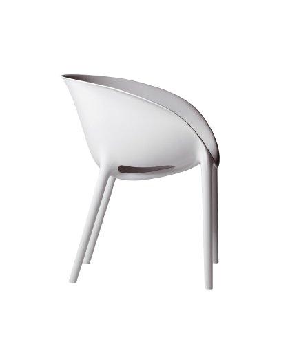 Driade Soft Egg Stuhl by Philippe Starck conf. 4Stück Bianco