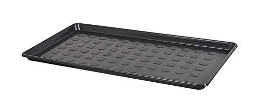 Kreher XL Mehrzweckablage, Schuhablage aus Kunststoff in Schwarz. Rechteckig, ca. 79 x 38 x 3 cm. Robust und abwaschbar.