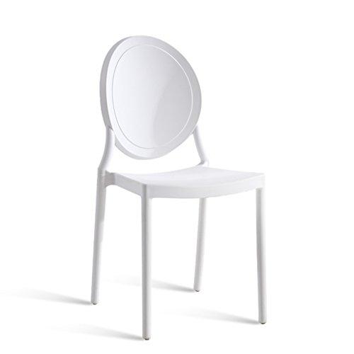 PLL Simple Backrest Chair Family Dining Barkruk Volwassene Noord-Europese Vrije tijd Creatieve Barkruk Amerikaanse Stijl Retro Verdikking Kunststof Stoel Beige Balck Wit Roze