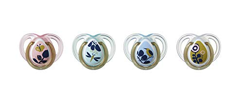 Tommee Tippee Closer to Nature Moda Baby Pacifiers 0-6 months - 4 count