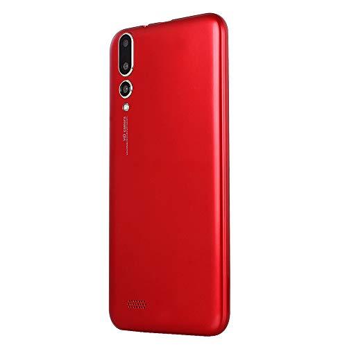Haihuic Smartphone 3G Desbloqueado, Pantalla HD de 5.0 Pulgadas Android 4.4 ROM de 512 MB de RAM de 4 GB Dual SIM Slots Dual Camera ID de la Cara WiFi GPS Bluetooth Rojo