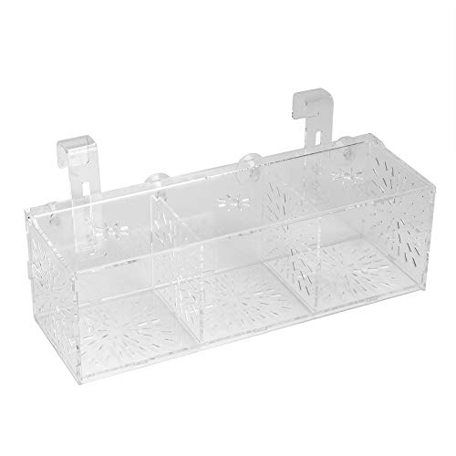 Broco Acryl Transparent Aquarium Zucht Isokoffer Aquarium Hatchery Incubator-Halter (C)