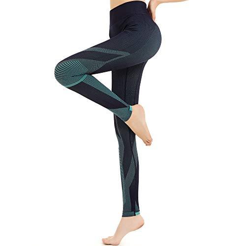 Eono by Amazon - Leggings Deporte Mujer Yoga Pantalones Mallas sin Costuras de Cintura Alta