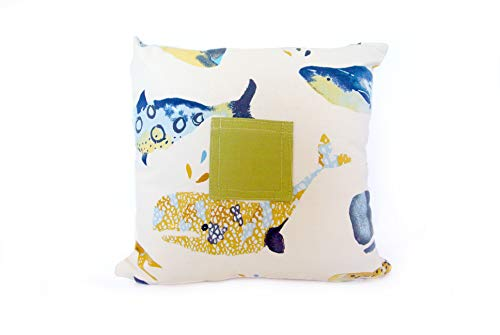 Snugglemore Tooth Fairy Cushion With Pocket Cute Animal Designs Tropical or Whales (Whales)