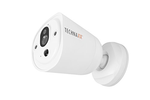 Technaxx Easy IP-Cam HD TX-55 weiß, kabellose Überwachungskamera HD mit Batteriebetrieb für Innen- und Außen