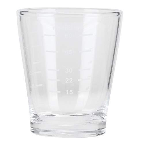 Taza de café de 80 ml con escalas Vaso medidor, vidrio termoaislado, para oficina en casa, cafetería, taza transparente