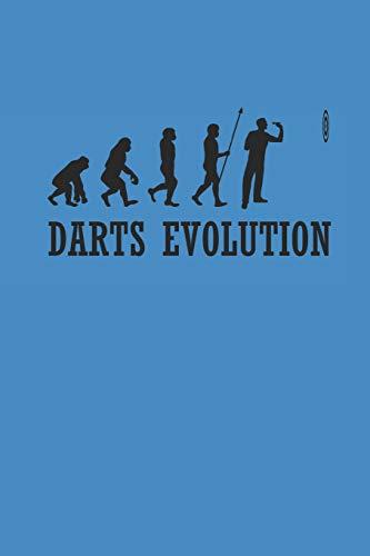 DARTS EVOLUTION: NOTIZBUCH Dart Journal Darts Notebook 6x9 squared kariert